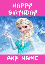8 images disney frozen free printable birthday cards