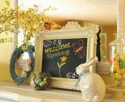 incredible living room fireplace mantel for easter deco featuring