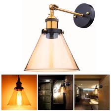 Wall Sconce Lighting Vintage Retro Industrial Barn Wall Lamp Sconce Light Glass