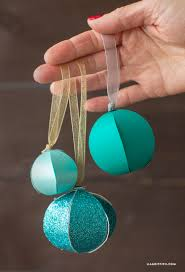 diy paper christmas ornaments lia griffith
