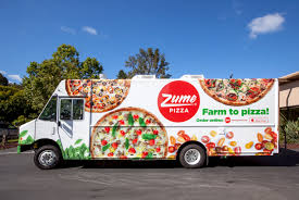pizza made by robots baked on the way to your house eater sf the zume pizza truck