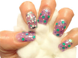 sheba nails blog quick and easy flower nail art design with nail