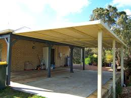 Flat Roof Pergola Plans by Colorbond Roofing Wa Patio Designs