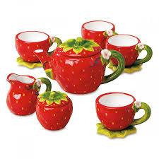 tea set strawberry tea set lillian vernon