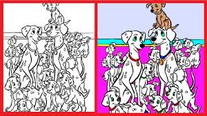 101 dalmatians coloring pages book disney colouring learn colors