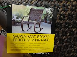 Agio 7 Piece Patio Dining Set - agio international aluminum woven rocker