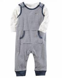 Popular Conjunto Carters menino - duas peças: macacão + blusa manga longa  &KL42