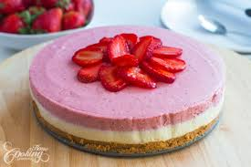 No Bake White Chocolate Strawberry Mousse Cake Home Cooking
