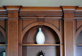 elegant arched cherry wood bookcases custom cabinetry by ken leech