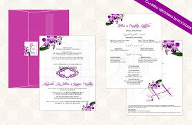 wedding invitations philippines thai orchid 01 classic wedding invitation kalidad prints and favors