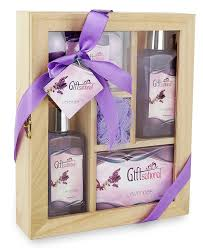 bath gift set spa gift basket with lavender fragrance bath set