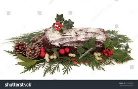 Decoration Of Christmas Cake by Yule Log Chocolate Christmas Cake Flora Stock Photo 114504457