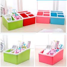 hipsteen desk organizer 4 slots desktop storage box case pen