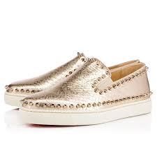 pik boat women u0027s flat light gold colombe lame sirene women shoes
