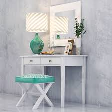 Tall Vanity Stool Bedroom Furniture Dressing Table Stool Cosmetic Table White