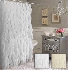 Crushed Voile Sheer Curtains by Shabby Crushed Voile Ruffled Shower Curtain 2 Colors Eleanor