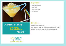 martini recipe martini bianco cocktail recipe yummy book