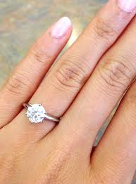 beautiful fingers rings images Engaged here is my 1 carat beauty on my size 3 finger jpg