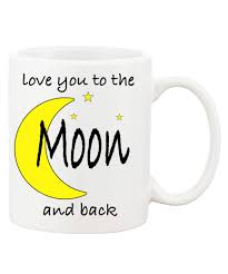 love you to the moon and back cute ceramic coffee mugs yellow
