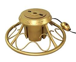 cmi heavy duty fancy gold metal rotating artificial