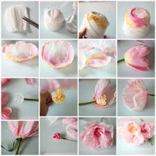 crepe paper flowers crepe and watercolor flower tutorial