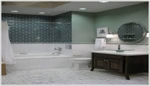 Subway Tile Bathroom Floor Ideas Floor To Ceiling Subway Tile Bathroom Tiles Home Decorating