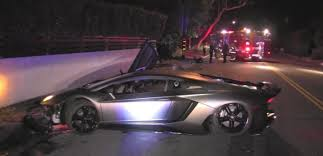 car lamborghini 2017 chris brown u0027s lamborghini found totaled in beverly hills hiphopdx