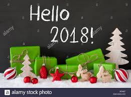 new year gifts text hello 2018 for happy new year green gifts or