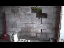 8 2 15 block wall repair day 1 making a plan youtube