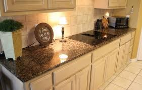 Baltic Brown Granite Kitchen Countertop Neutral White - Baltic brown backsplash