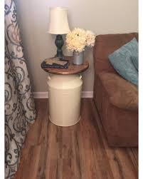 cream round end table great deals on milk can end table wood end table cream milk can