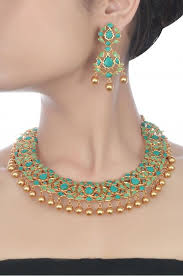 turquoise necklace earring set images Silver floral turquoise necklace set desi style that 39 s how it 39 s jpg