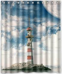 Lighthouse Window Curtains Lighthouse Shower Curtains Shower Curtains Outlet