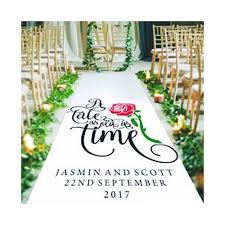 a tale as old as time wedding aisle runner black sheep design