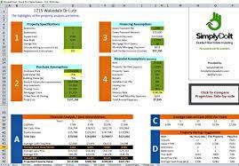 Rental Property Calculator Spreadsheet Excel Rental Property Analysis By Simplydoit Net Youtube