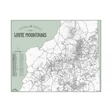 Appalachian Trail Massachusetts Map by Color In White Mountains Trail Poster Amc Store Appalachian