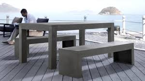 cement table and bench beliani dinning beton set concrete table ans 2 benches outdoor