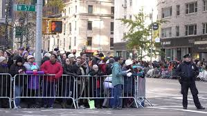 new york city ny november 26 large crowd of fans waiting for