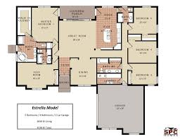5 bedroom 4 bathroom house plans four bedroom house plans one story 4 3 bathroom split floor soiaya