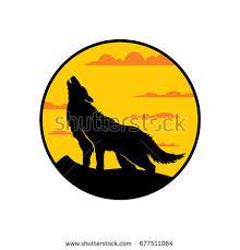 belgian shepherd howling wolf howling full moon stock vector 661516966 shutterstock