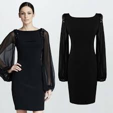 aliexpress com buy women office dress long lantern sleeve