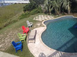Deep Backyard Pool by Deep Water View With Dock Pool Sauna Ste Vrbo