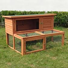 Rabbit Hutch With Large Run Ancona 4ft Large Wooden Rabbit Hutch With Extending Run Amazon