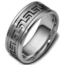 carved wedding band 47528ti key carved wedding ring