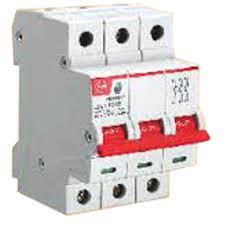 hpl make 40amp double pole rakshak mcb isolator