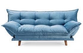 canape bleu clic clac confortable design scandinave bleu pièce à vivre