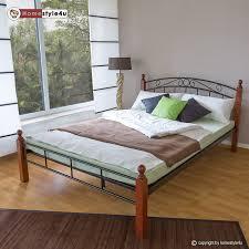 Betten Schlafzimmer Amazon Homestyle4u Metallbett Bett Doppelbett 160 X 200 Lattenrost