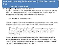 write a good thesis statement how to tell a strong thesis statement claim from a weak one