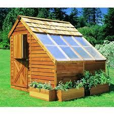 Backyard Green House Cedar Shed Sunhouse Backyard Greenhouse Storage Shed Outdoor Living