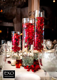 winter wedding centerpiece wedding reception glass wedding then